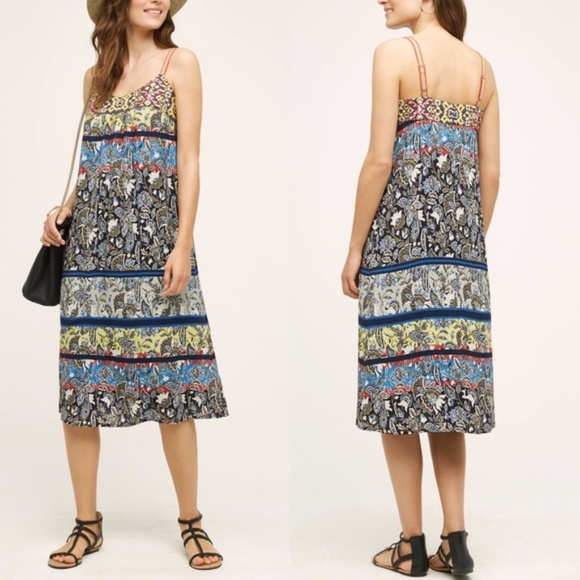 4775e8281a6a Anthropologie Dresses | Anthro Embroidered Summer Pattern Midi Dress ...
